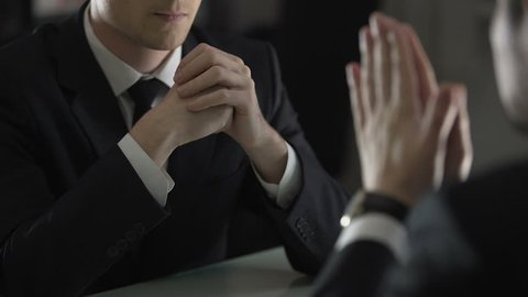 Lawyer threatening and intimidating client, forcing him to confess frankly