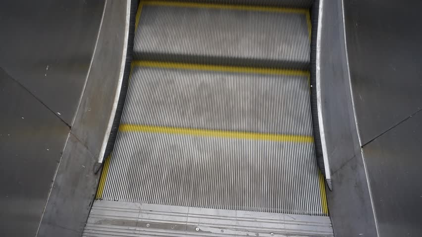 View of escalators from above in perspective | Shutterstock HD Video #1009214054