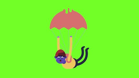 Parachute Cartoon Animation