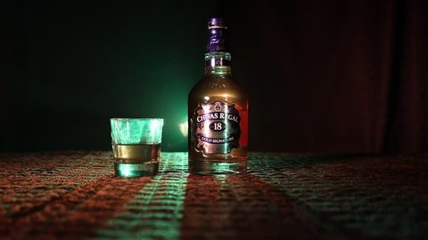 7ff296538 BAKU, AZERBAIJAN – MARCH 25, 2018: Blended from whiskies matured for at  least