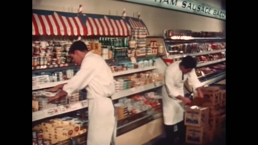 CIRCA 1950 - Supermarkets grow and thrive in the 1950's and 1960's.