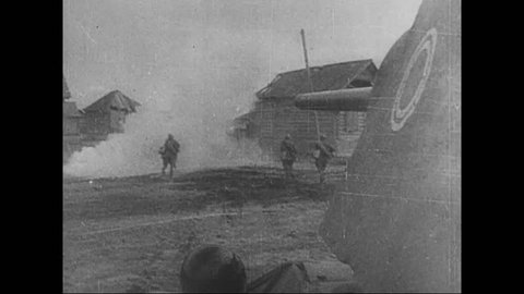 CIRCA 1942 - Heavy fighting occurred between the Red Army and the German Army in the middle of Stalingrad in September and October, during WWII.
