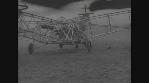 CIRCA 1957 - The development of helicopters and airplanes in the 1920s.