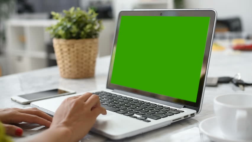 Woman hand using laptop with key green screen. Lady hand typing on a laptop computer. | Shutterstock HD Video #1009465184