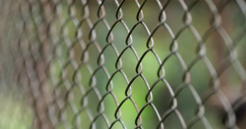 City Urban Fence. Metal protective fence against intruders or invaders. Private property fences.