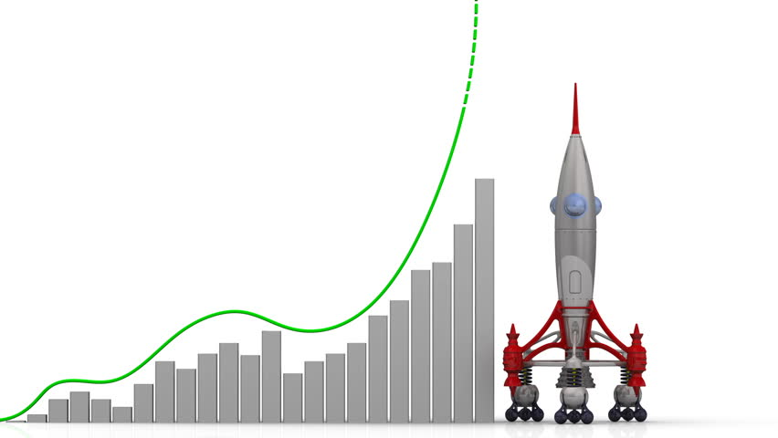 Start up. The graph of growth. Graph of rapid growth with word START UP and rocket launch. Footage video | Shutterstock HD Video #1009489664