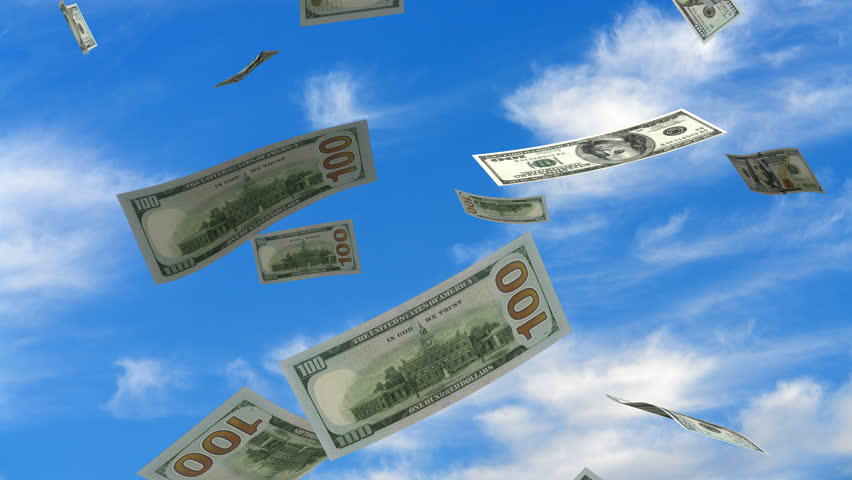 Falling American Dollar | Shutterstock HD Video #10095074