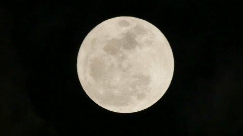 Super full moon rising.