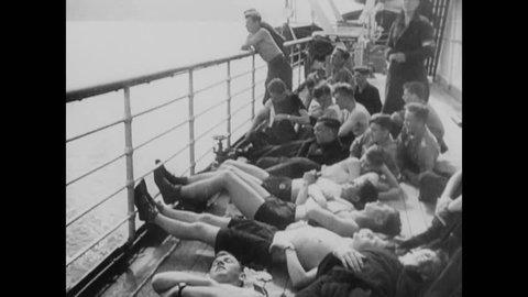 CIRCA 1943 - Fascist leaders Joachim von Ribbentrop, Leon Degrelle, Francois de La Rocque, Konrad Henlein and Sir Oswald Mosley emerge during WWII.
