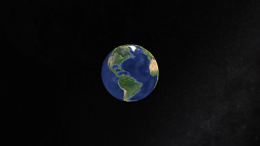 Bahrain With Flag. 3d earth in space - zoom in Bahrain outer, created using ultra high res NASA