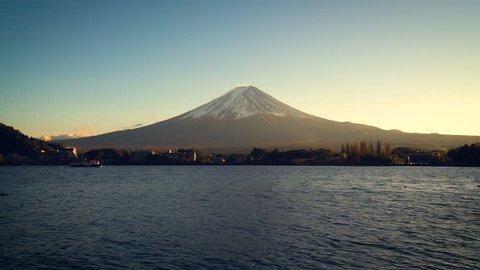 Mount Fuji , Japan - Lake Kawaguchiko is one of the best places in Japan to enjoy Mount Fuji scenery near Tokyo.