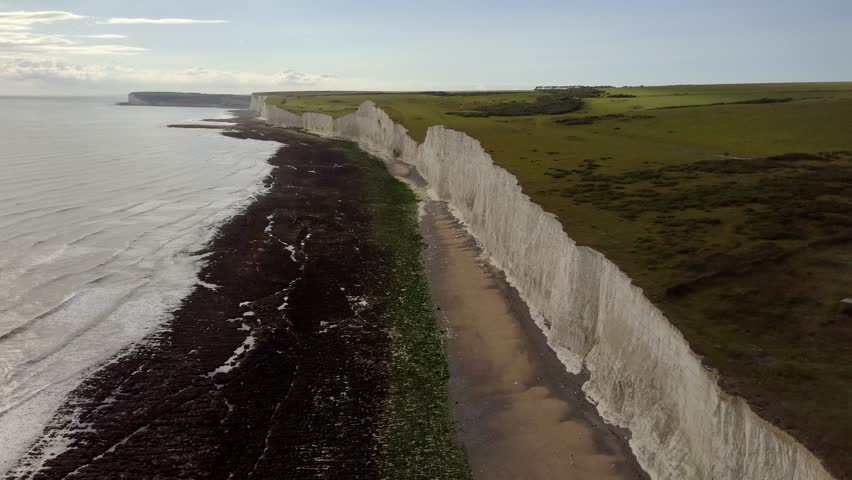 Aerial video of the Seven Sisters - UK