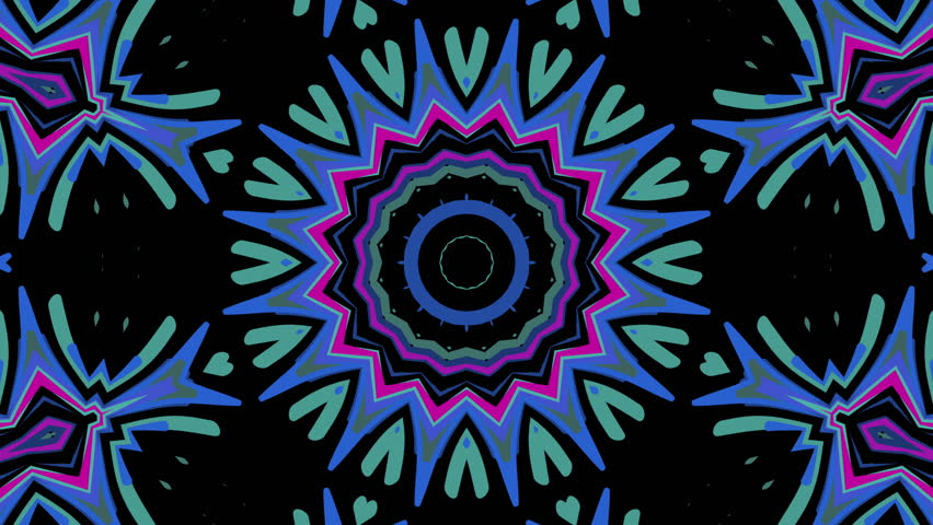 Looping abstract colorful visual with concentric patterns on black background  | Shutterstock HD Video #1009774094