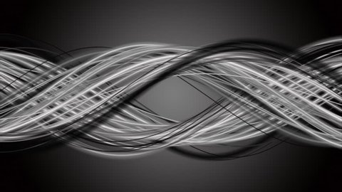 Magical video animation with stripe wave object in slow motion, 4096x2304 loop 4K