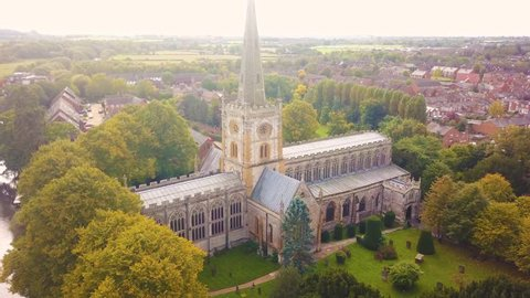 Church of the Holy Trinity, Stratford-upon-Avon. The burial ground of English Poet and Playwright, William Shakespeare.