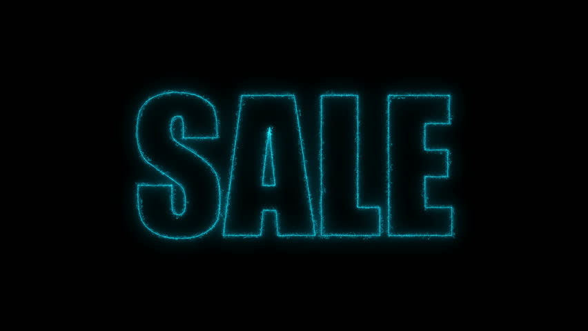 Letters of Sale text on black, 3d render background, computer generating for trading   Shutterstock HD Video #1009997774