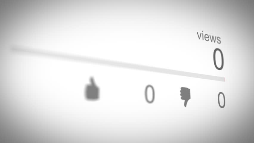 Social Media View Counter 01 Red   Shutterstock HD Video #1010012684