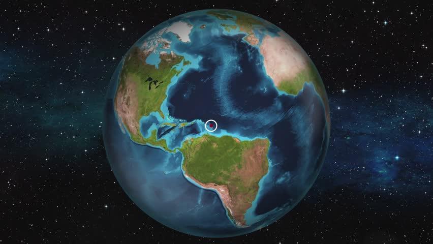 Earth Zoom In Map - Bridgetown