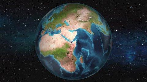 Earth Zoom In Map - Djibouti