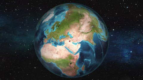 Earth Zoom In Map - Baghdad