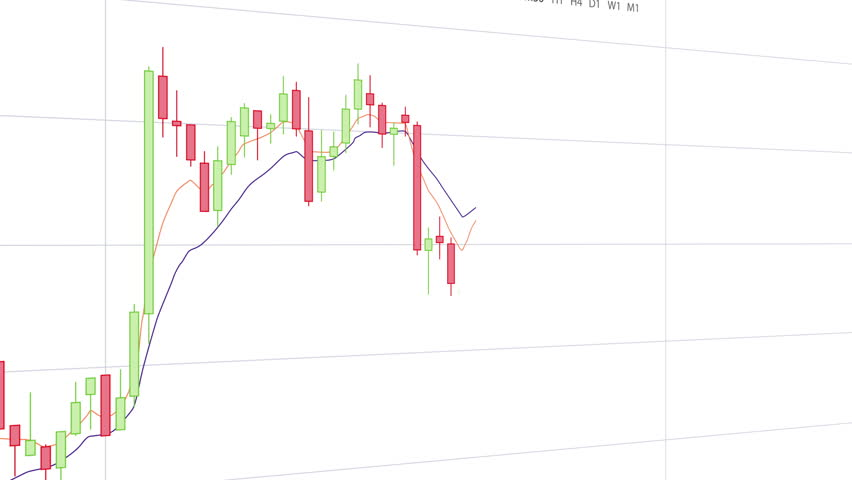 Candlestick Trading Chart Animation on White Background | Shutterstock HD Video #1010020424