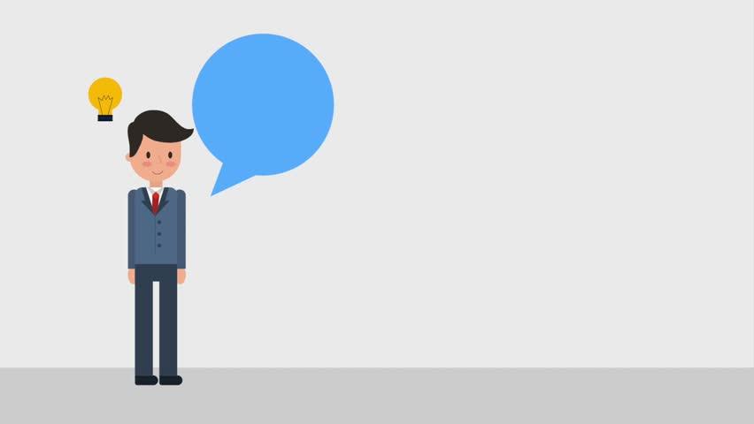 Businessman employee creativity idea bulb speech bubble | Shutterstock HD Video #1010091764