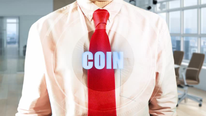 COIN Businessman And Touchscreen Technology. Businessman working holographic virtual interface in light office. Concept: hologram, technology, augmented reality, future 4k clip footage | Shutterstock HD Video #1010183264