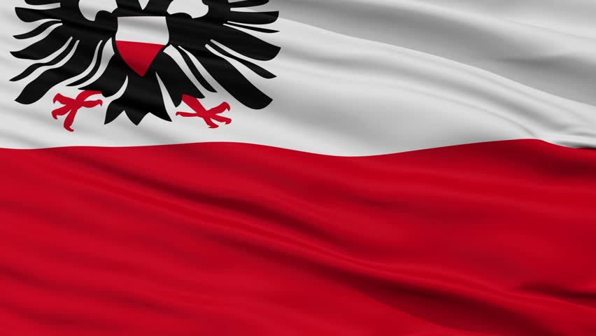 Lubeck closeup flag, city of Germany, realistic animation seamless loop - 10 seconds long