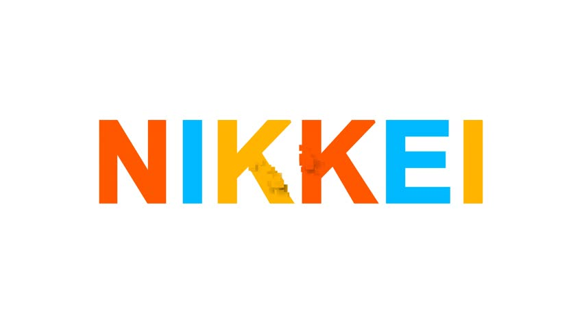 World stock index NIKKEI from letters of different colors appears behind small squares. Then disappears. Alpha channel Premultiplied - Matted with color white | Shutterstock HD Video #1010194094