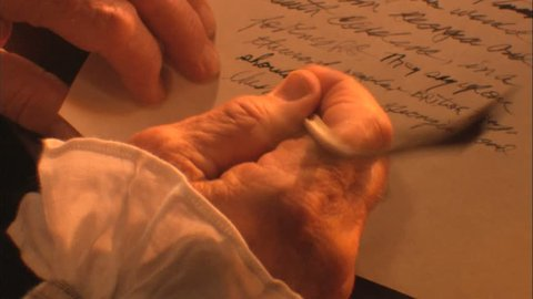 Quill writing letter