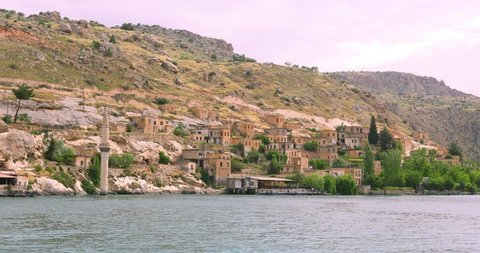 Sunken village of Halfeti in Gaziantep Turkey