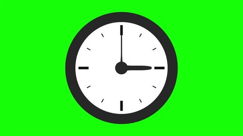 Motion background with spinning clock in 12 hour seamless loop
