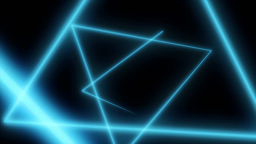 Abstract background with neon triangles. Seamless loop. Neon Grid Square Loop Background. Abstract Triangle. Neon geometric shapes and lines