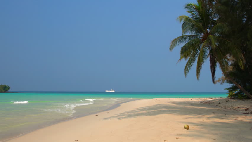 Tropical beach in sunny day | Shutterstock HD Video #1010481374