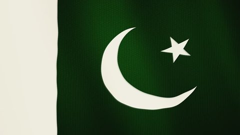 Pakistan flag waving animation. Full Screen. Symbol of the country.
