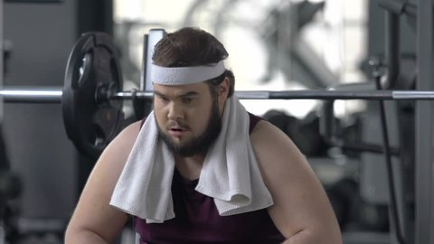Fat Men Gym Stock Video Footage - 4K and HD Video Clips | Shutterstock