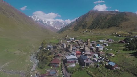Ushguli is a community of four villages located at the head of the Enguri gorge in Svaneti, Georgia. It is also one of the highest continuously inhabited settlements in Europe.