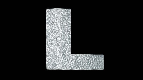 Letter L - Animated Ice Water Letters Concept