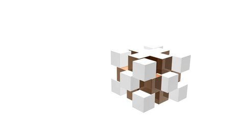 cube 3d puzzle geometry animation
