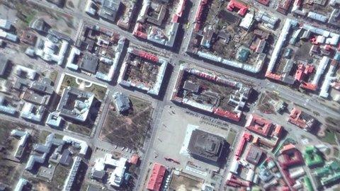 Earth Zoom In Zoom Out Minsk Belarus