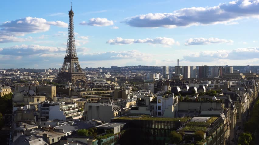 Eiffel tour and Paris cityscape | Shutterstock HD Video #1010797754