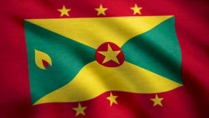 Grunge flag of Grenada. Flag of Grenada background