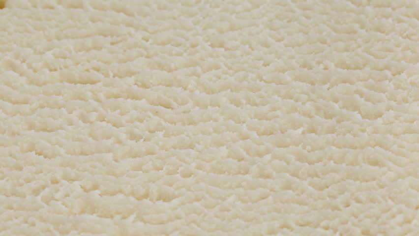 White Ice Cream Vanilla Texture Stock Footage Video (100% ...