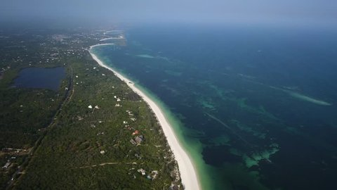 Long beach in Africa from the top