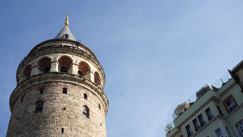 Galata Tower And Buildings, Istanbul, Turkey