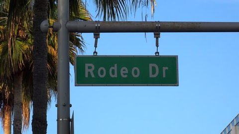Rodeo Drive road sign. Los Angeles, California, USA