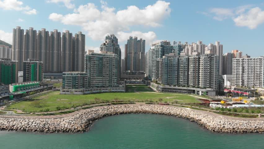 Hong Kong TSEUNG KWAN O water front | Shutterstock HD Video #1011248324