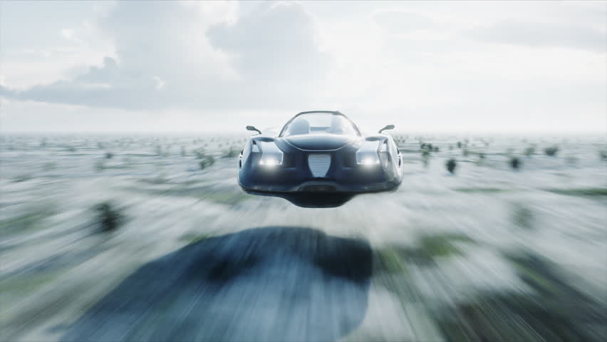 Futuristic Flying Car With 3d Stock Footage Video 100 Royalty Free