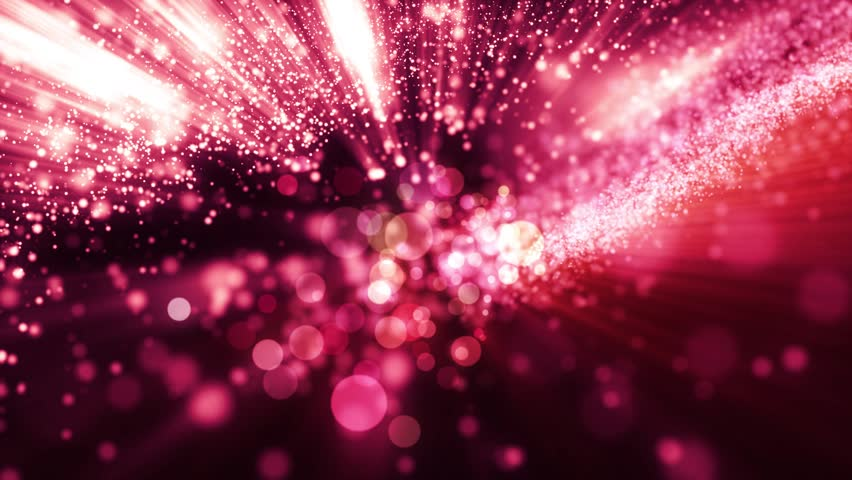 Bright beautiful red flood lights disco background with glitter stars. Light seamless background.  VJ Animation background with lines and sparkles on black background.  Seamless loop.
