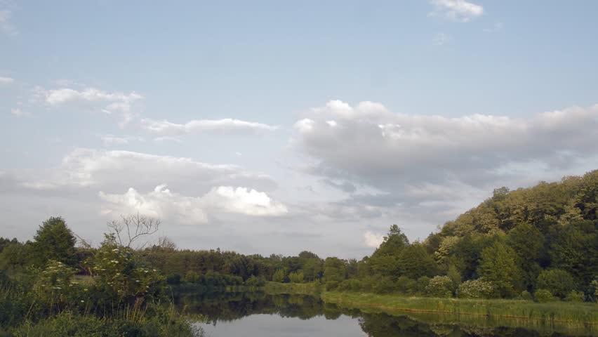 Wild natural river. Nature series. | Shutterstock HD Video #1011366434